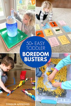 Easy to Set Up Toddler Boredom Busters - Toddler Approved!: Easy to Set Up Toddler Boredom Busters You are in the right place about kids tumb - Toddler Play, Baby Play, Baby Boys, Infant Activities, Summer Activities, Boredom Busters For Kids, Kids Moves, Sensory Bins, Sensory Play