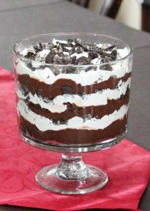 Oreo Trifle Recipe- going to use peppermint oreos instead of plain to make it more holiday appropriate