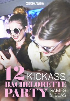 BACHELORETTE PARTY IDEAS AND GAMES: If your BFF is tying the knot, send her off with these fun bachelorette party games and ideas! Here you'll find a fun and easy list of bachelorette party ideas that get everyone involved, don't include raunchy penis straws, etc., and we bet you've never heard of these unique ideas before. Click through to see the list of bachelorette party ideas, and find more wedding, bachelorette, and bridesmaids ideas at http://Cosmopolitan.com.