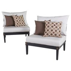 Creating the patio of your dreams starts with the Astoria Armless Chairs in Moroccan Cream