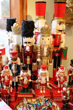 Nutcrackers now available in the Hever Shop. Contact us to order via our postal service 01732 861712 | #christmas #decorations #christmasdecorations #nutcrackers