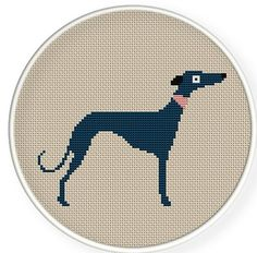 This is apt as a tribute to my Sultan Counted Cross Stitch Patterns, Cross Stitch Embroidery, Cross Stitch Silhouette, Cross Stitch Animals, Cross Stitching, Pixel Art, Etsy, Greyhounds, Whippets