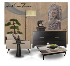 """""""ZEN :: 120417"""" by irafra ❤ liked on Polyvore featuring interior, interiors, interior design, home, home decor, interior decorating, Home Decorators Collection, Moooi, Campania International and livingroom"""