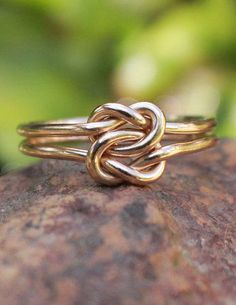 Love Knot Ring 14K Gold Filled Celtic Double