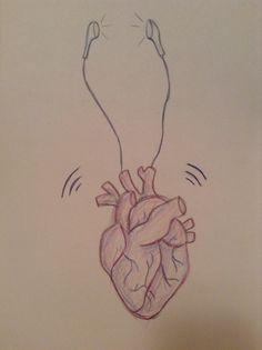 Heart with earphones 245/06/2015❤️