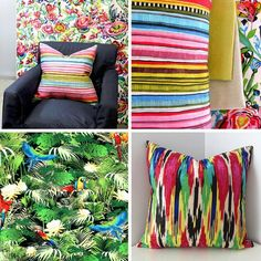 Thinking the bottom left design for seat pads on a chair I'm restoring Colorful Plants, Cushion Fabric, Seat Pads, Bright Lights, Flower Prints, Flower Power, Upholstery, Arts And Crafts, Vibrant