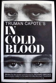 IN COLD BLOOD  Tri-Folded Original 1967 U.S. 1 Sheet