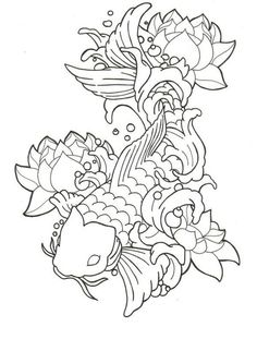 Koi Fish Tattoo - not normally a fan of them but i really like this one.