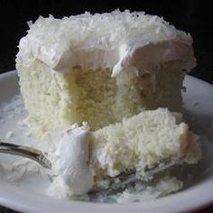 Coconut Poke Cake! - tried it yesterday..good recipe but my guys thought it was too sweet..next time 1/2 the condensed milk...I liked it