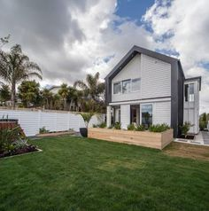 Alex and Corban's home. The Block NZ 2014. Metalcraft Espan® roofing in COLORSTEEL® FlaxPod® prepainted steel.