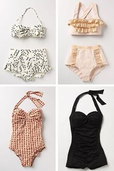 Love these swimsuits! So cute and unique!!