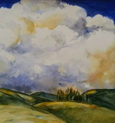 Cathryn Whan. Clouds, northern New South Wales, Australia. Watercolour