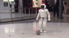President Barack Obama briefly plays soccer with Honda's humanoid robot ASIMO during his recent trip to Japan. ASIMO, which is an acronym for Advanced Learn Robotics, Robotics Engineering, Japanese Robot, Humanoid Robot, Robot Technology, Teaching Jobs, Play Soccer, Geek Humor, Training Programs