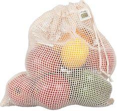 Et godt alternativ til plast! Økologisk bomulls nettingposei størrelse L fra ECOBAGS®. Ta med bomullsposen på butikkennår du handler fruktog grønt i løsvekt.Si nei til plast, gåfor gjenbrukbare varer og reduser ditt avfall.På bloggene nedenfor kan du la deg inspirere til en miljøvennlig og grønn nullavfall-livsstil.Lauren Singer i Trash is for Tossers!Bea Johnsen i Zero Waste Home!Beth Terry i My Plastic Free Life og ikke minst den Norske ZerowasterenKrist...