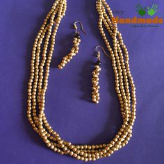 Dokra Tribal Necklace Golden Small Beads