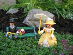 Playmobil in the yard