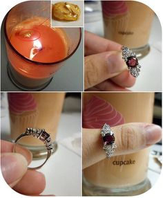 Diamond candles: It's a candle that has a ring inside that can be either a costume piece or real jewelry worth anywhere from $10 and up. I WANT ONE!
