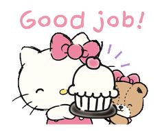 LINE Official Stickers - Hello Kitty's Daily Cuteness Example with GIF Animation Stickers Emojis, Cute Stickers, Hello Kitty My Melody, Sanrio Hello Kitty, Gifs, Animated Smiley Faces, Happy Bird Day, Hello Kitty Imagenes, Hello Kitty Wallpaper