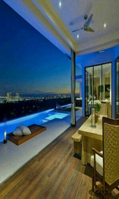 Modern top-floor #penthouse with infinity pool and city views