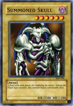 Yugioh! I have this card, also the Blue Eyed White Dragon:)