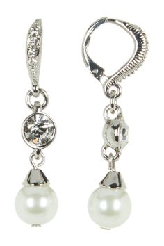 GIVENCHY SIMULATED PEARL DROP EARRINGS