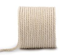 Twisted Cotton Cord / Rope mm m) Natural Materials, Floor Chair, Cord, Sewing, Cotton, Diy, Sew Bags, Home Decor, Electrical Cable