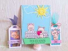 Card and tags I recently made showcasing #mftstamps #hogheaven stamp set.