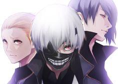Naki, Kaneki the one eyed king and Shuu Tsukiyama