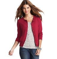 Pima Cotton 3/4 Sleeve Cardigan - Ultra luxe, this pima cotton style is a must-have for instant polish - in a bevy of flattering hues. Crew neck. 3/4 sleeves. Button front. Ribbed neckline, cuffs and hem.�