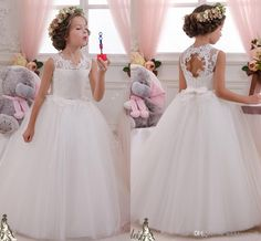 2016 Backless Lace Beaded Ball Gown Flower Girl Dresses Vintage Child Pageant Dresses Holy Communion Flower Girl Wedding Dresses Wedding Girls Dresses Flower Girls Dresses Lovely Baby Dress Online with 66.29/Piece on Weddingmall's Store | DHgate.com