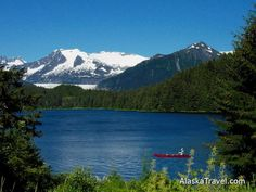 Mendenhall Lake at the foot of Mendenhall Glacier - Juneau Alaska