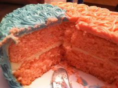 Gender Reveal Cake - It's a Girl