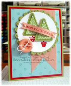 Penant Christmas Tree Card