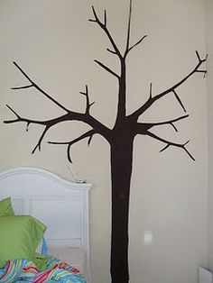 DIY Wall Decals with fabric starch!