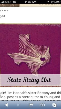 State string art! #YoungandCraftySisters