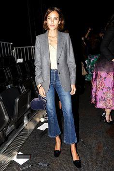Here's how to wear a grey blazer | Alexa Chung
