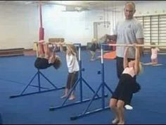 Modern Gymnastics: preschool class: 3-4yrs old, bar skills