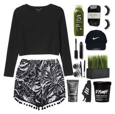 """""""Untitled #755"""" by zombiegirl101 ❤ liked on Polyvore featuring Monki, Topshop, Cassia, Chanel, Nike Golf, Crate and Barrel, NARS Cosmetics and adidas Originals"""