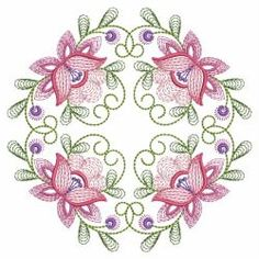 Rippled Butterflies 4 14(Sm) machine embroidery designs