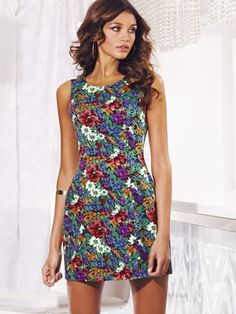 Lipsy Fitted Floral Dress