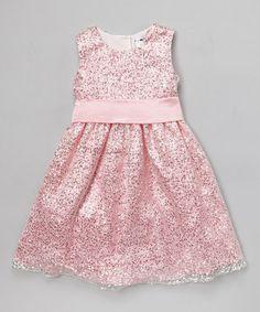 Love this Pink Sequin A-Line Dress - Toddler & Girls on #zulily! #zulilyfinds