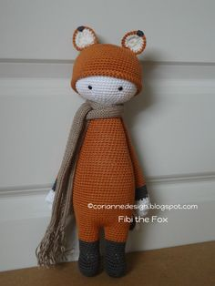 """Fibi the Fox """"This doll is handmade by Corianne (CorianneDesign) from a design and pattern by lalylala handmade . Lydia Tresselt / www.lalylala.com"""""""