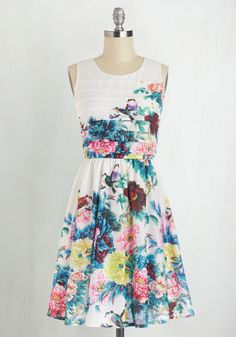 Exotic Elegance Dress. Beauty is something that surrounds you daily - something you see and smell and wear. #multi #modcloth