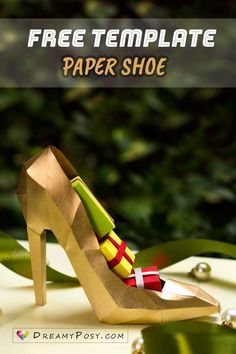 Card Making Templates, Templates Printable Free, Printable Designs, Printable Box, Free Printables, Cardboard Picture Frames, Shoe Template, Origami, Paper Shoes