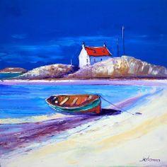 Jolomo: Beached boat on Isle of Barra Painting & Drawing, Watercolor Paintings, John Morrison, Art Houses, Sailboats, Watercolor Landscape, Painting Inspiration, Folk Art, Scotland