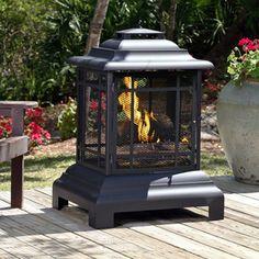 Fire Sense�Black Steel Outdoor Wood-Burning Fireplace $146.00 (Lowes)