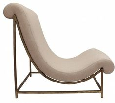 Wrought iron 'Elen' chair (can be covered in customer's fabric, 3m of fabric required) (T2509) - Decorative Lighting and Furniture - Tyson L...