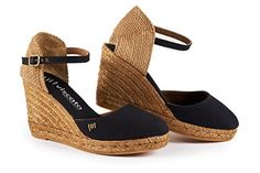 New VISCATA Barcelona VISCATA Satuna 3 quot; Wedge, Ankle-Strap, Closed Toe, Classic Espadrilles Heel Made in Spain online. Find the great White Mountain Sandals-shoes from top Shoes store. Womens Espadrilles Wedges, Women's Espadrilles, Everyday Shoes, Black Wedges, Summer Shoes, Wedge Sandals, Espadrille Wedge, Ankle Strap, Fashion Shoes