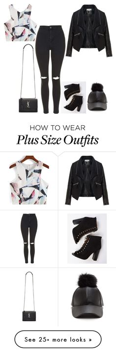 """""""Untitled #353"""" by kylie100 on Polyvore featuring Yves Saint Laurent, Zizzi and Topshop"""