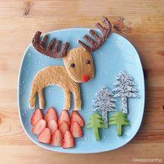 Rudolph Food Art